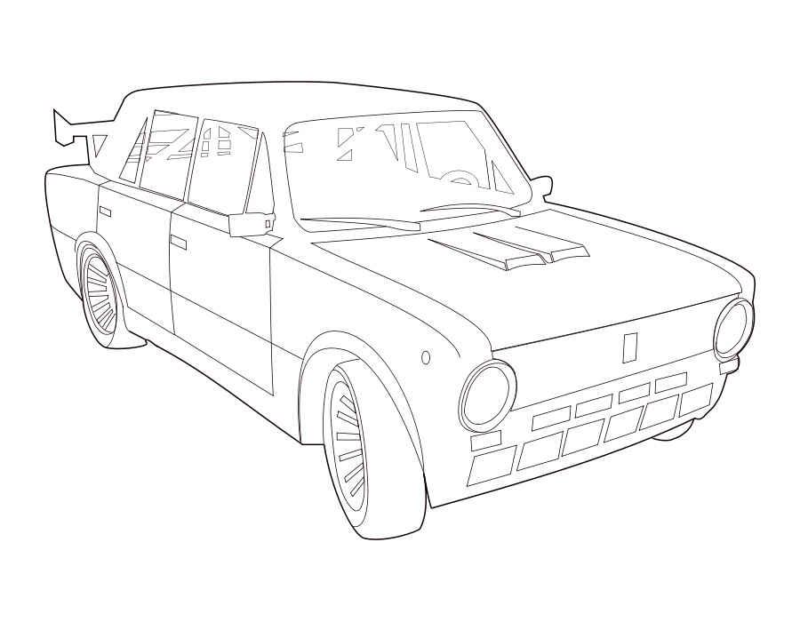 Раскраски для мальчиков русские машины - 5