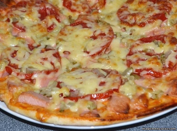 Как сделать пиццу с помидорами