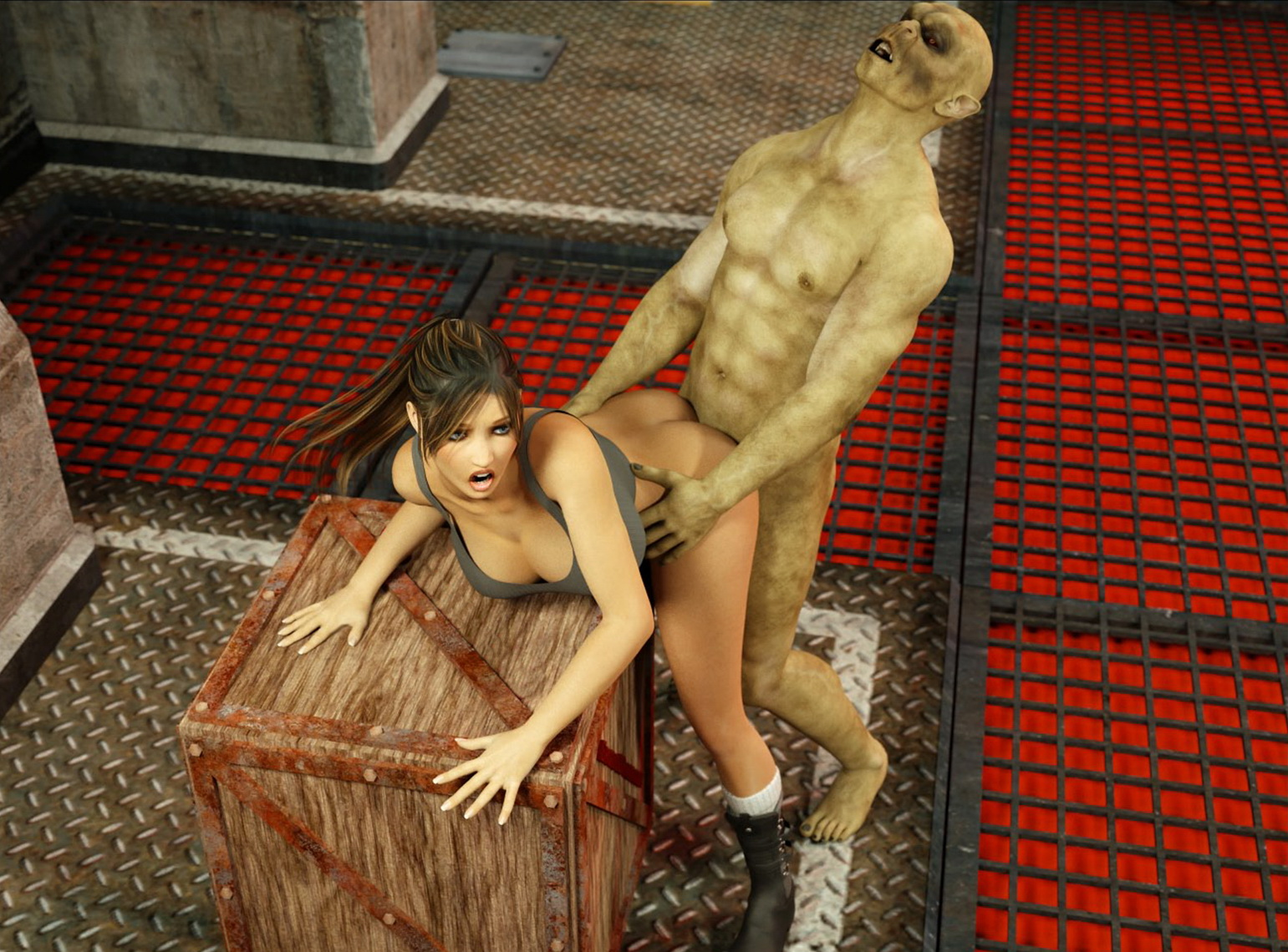 3d monster sex fuck lara croft sexy  porn pictures