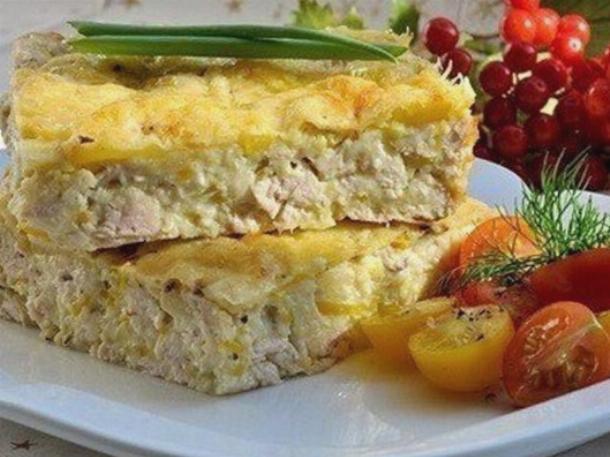 Куриный пирог в духовке рецепт простой с
