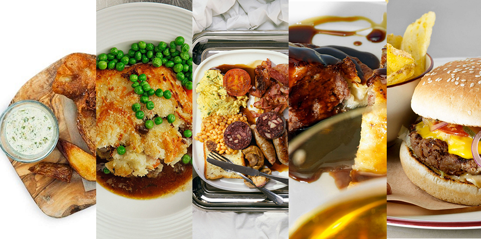 Еда из британского паба