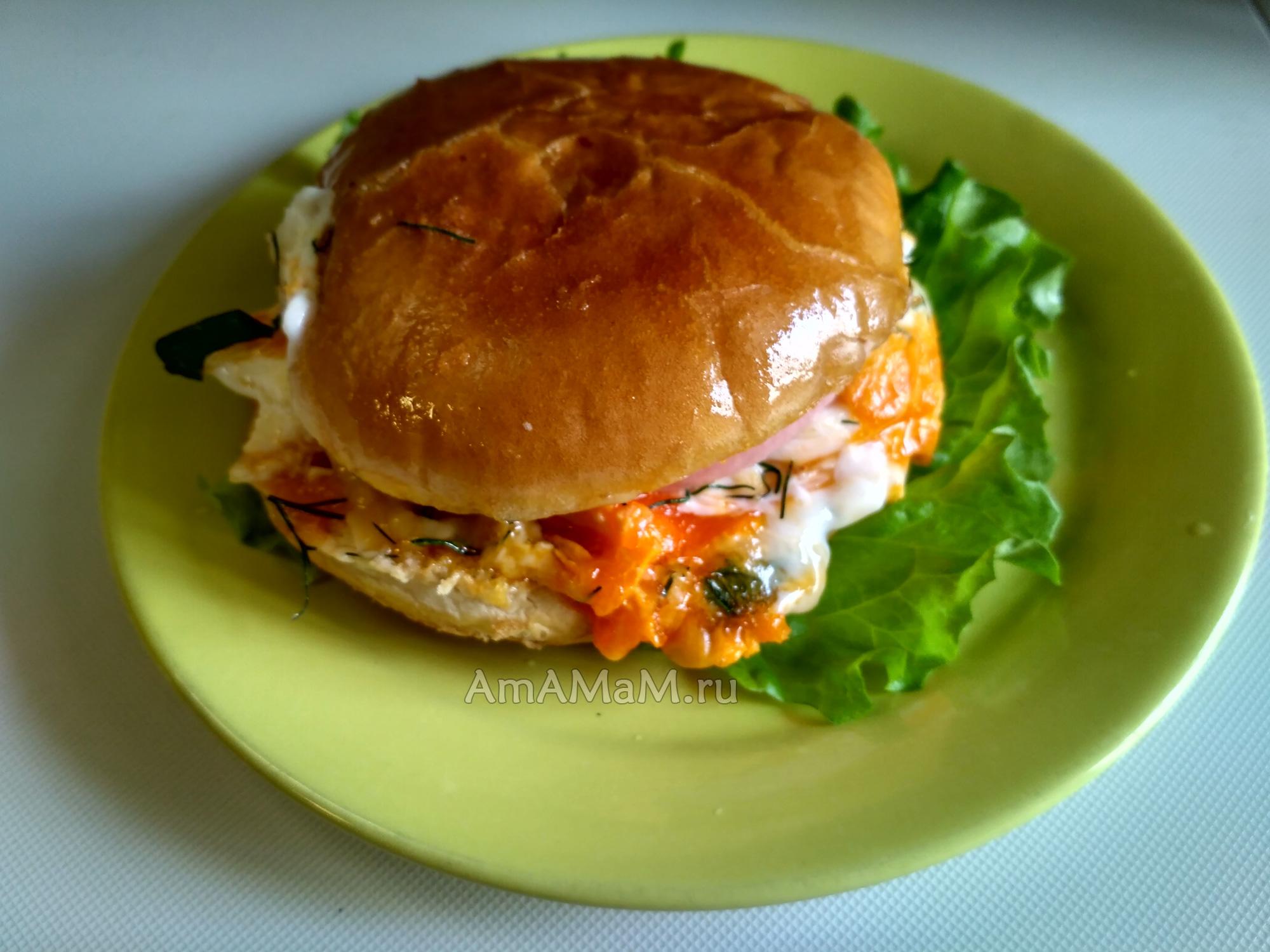 Рецепты гамбургеров с колбасой в домашних условиях