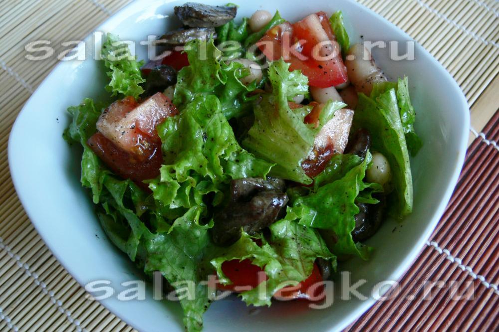 салат куриные сердечки рецепт с горошком