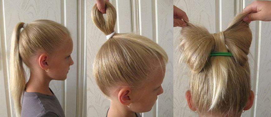Детские прически на средние волосы для девочки