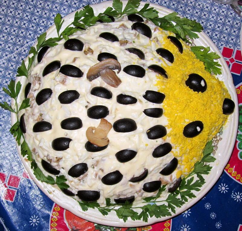 Рецепты салатов на день рождения слоями