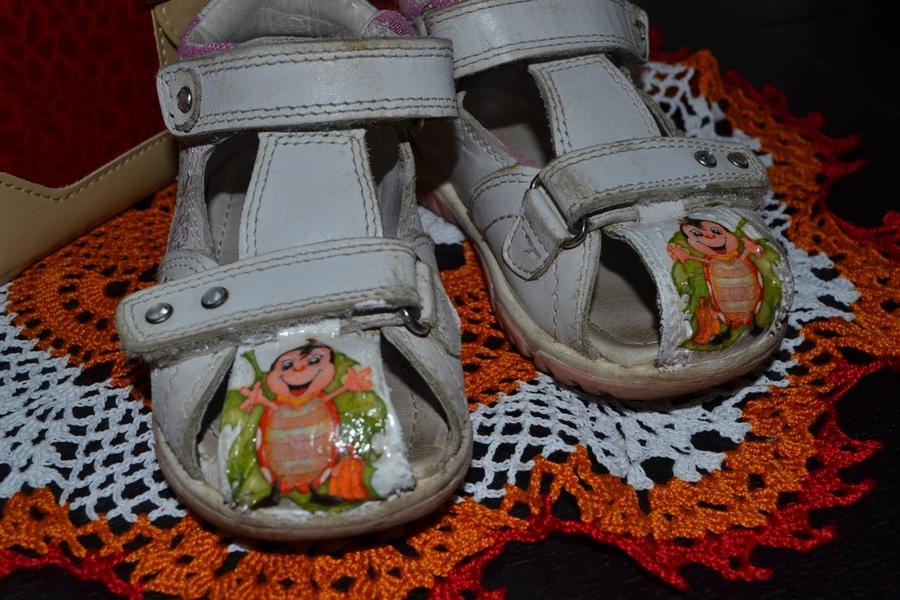 Реставрация детской обуви своими руками декупаж 26