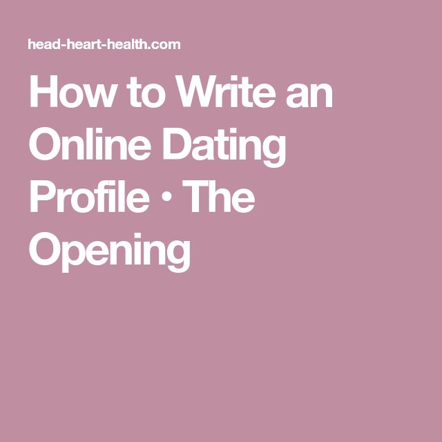 How to write a good online dating headline