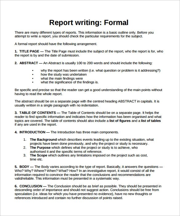 Write my write formal business report