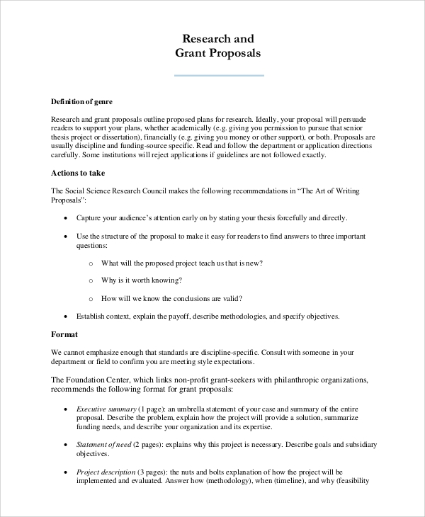 Outline proposal for research paper