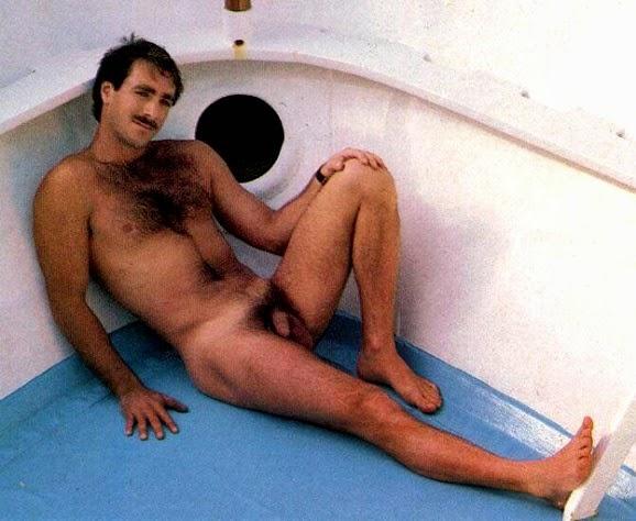 Gay posing in boxers