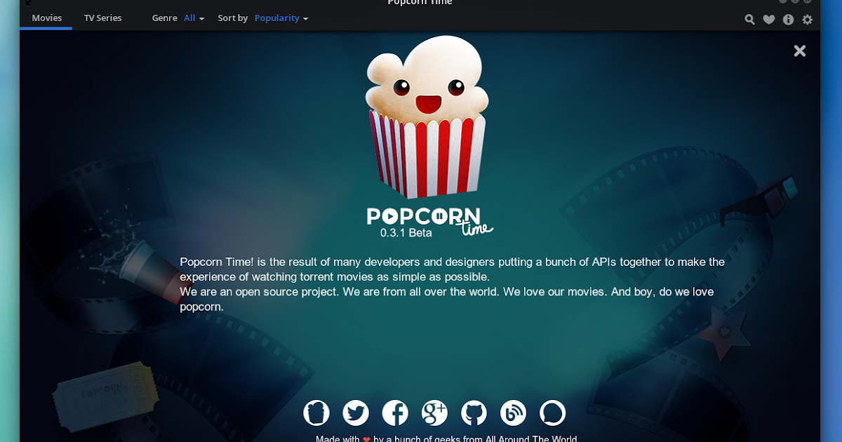 Popcorn Time Free Movies Download for PC, Mac