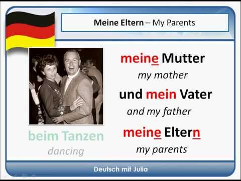 Essay on my family in german language