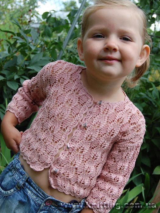 схема вязания кофточек для девочки 1 2 года