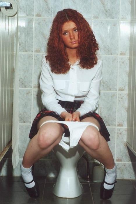 Women in mini skirts toppless