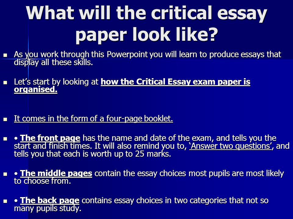 Write my how to write an critical essay
