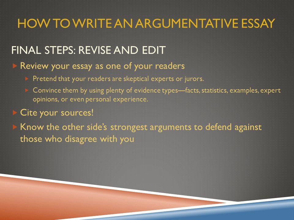 Write my how to begin an argumentative essay