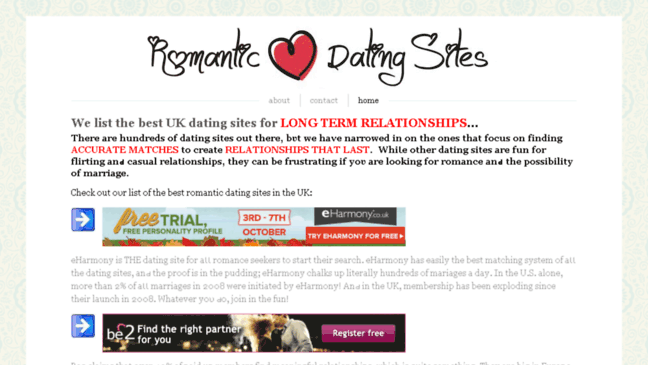 Long term relationship dating sites