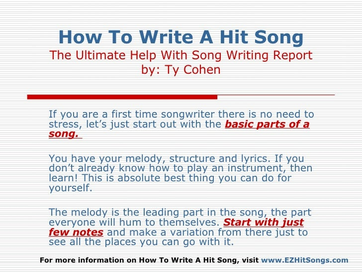 How To Write A Chorus For A Rap Song - Start Writing