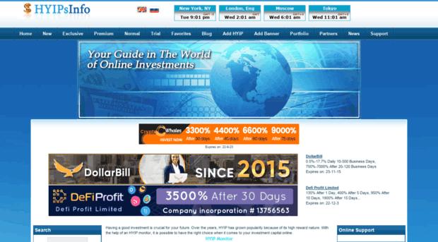 Monitor hyip sites