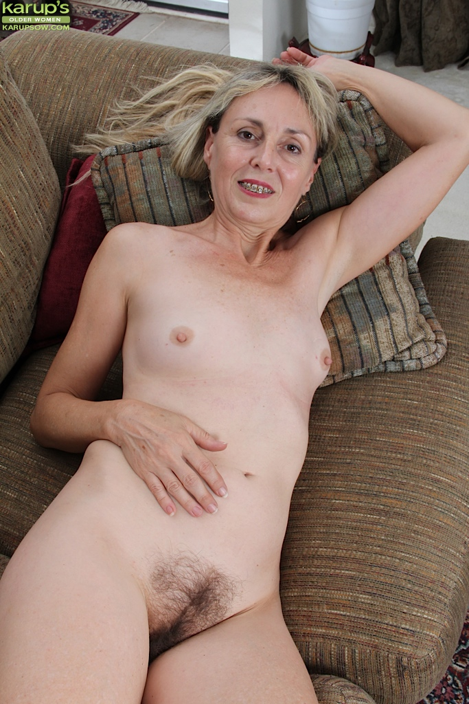 Women naked bent Hairy over