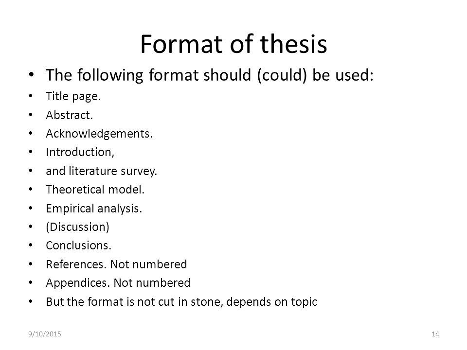 Dissertation Topics - Example Dissertation Topics