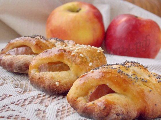 Яблоки в творожном тесте рецепт с фото