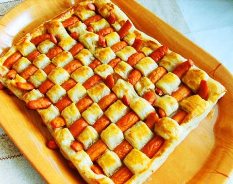 пирог с сосиской рецепт с фото