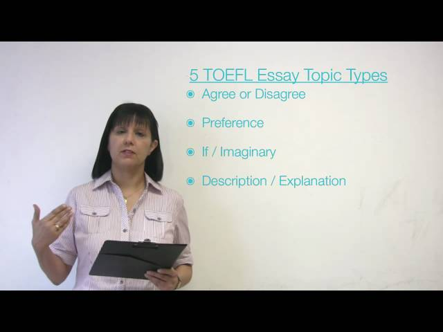 Toefl ibt writing topics and model essays