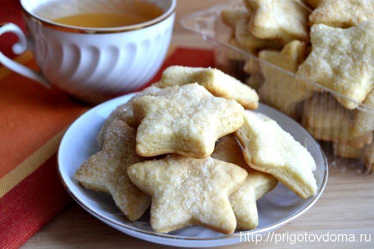 Печенье с сахаром рецепт с фото