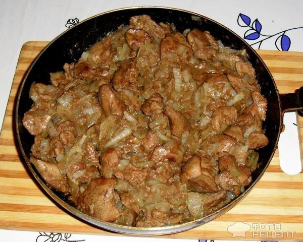 Куриная печень рецепт с фото быстро