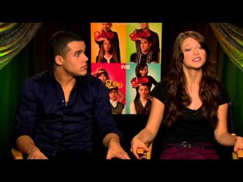 Glee - 4x06 Glease - Marley and Ryder Kiss - YouTube