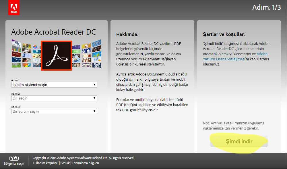 Download and install an older version of Adobe Reader