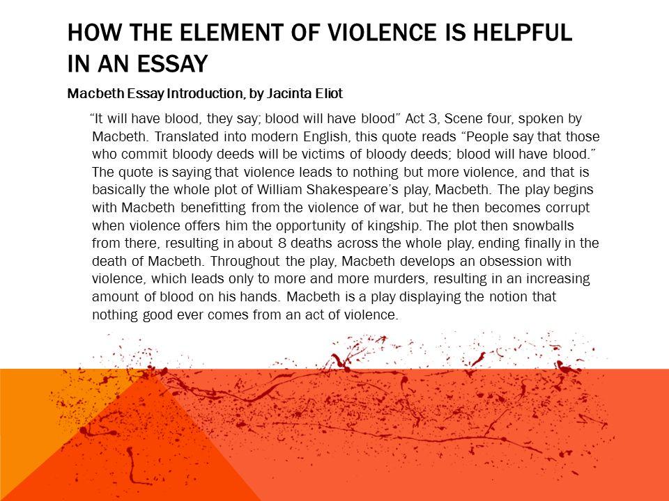 Violence essay ideas