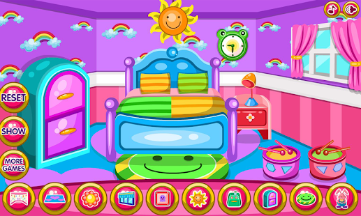 Room Decorating Game for girls online,free kids games