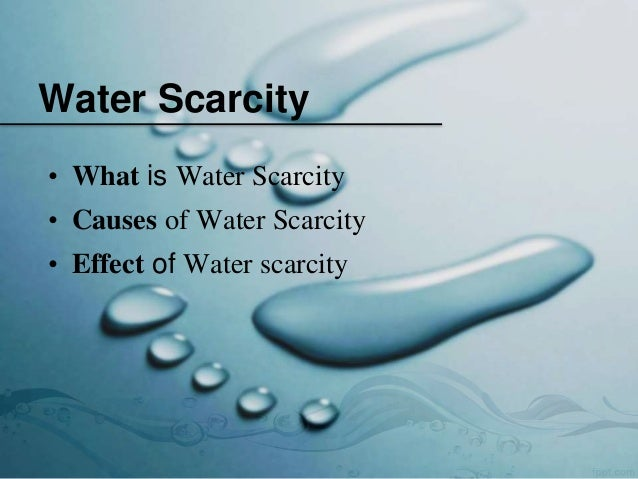 Water crisis essay in english