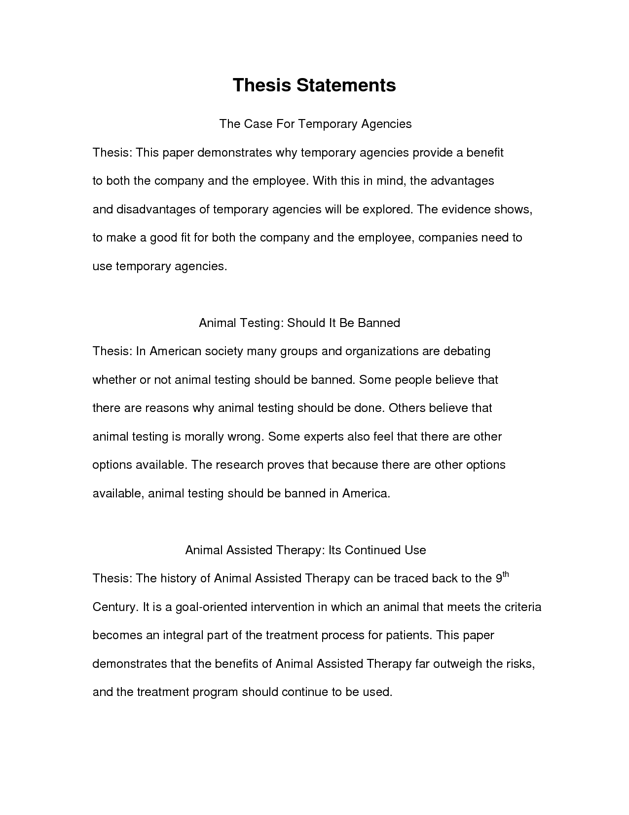 thesis essay template exolgbabogadosco - An Example Of A Thesis Statement In An Essay