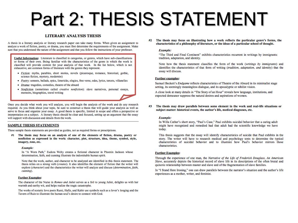 thesis writing characteristics and format of thesis