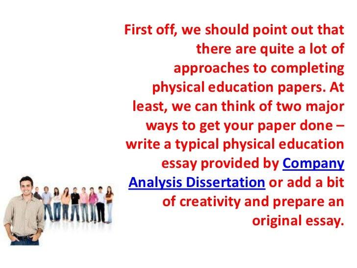 Physical education essays