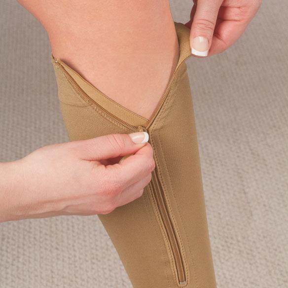Calze compressive con zip
