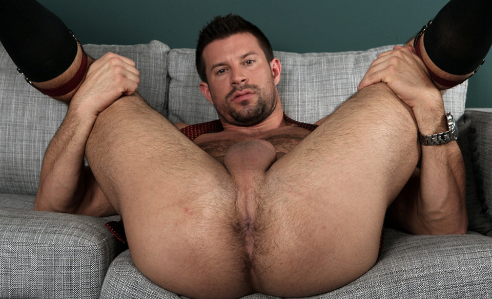 Naked hairy male for support
