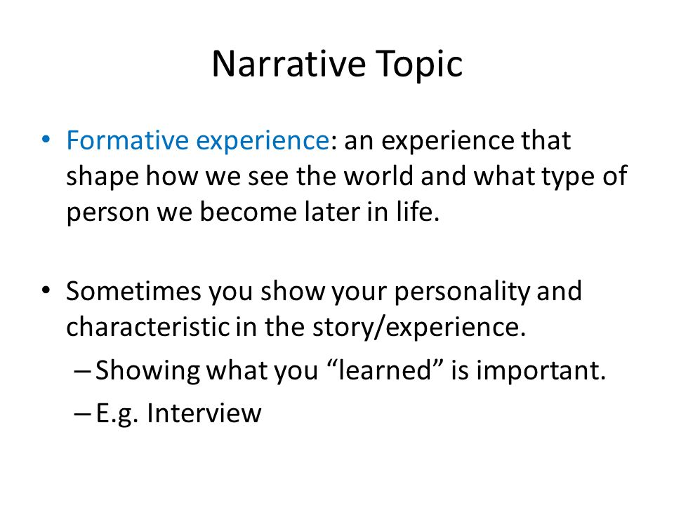 Write my topic for narrative essay