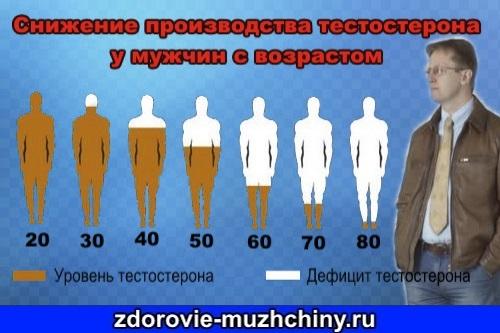 Низкий уровень тестостерона у мужчин в молодом возрасте
