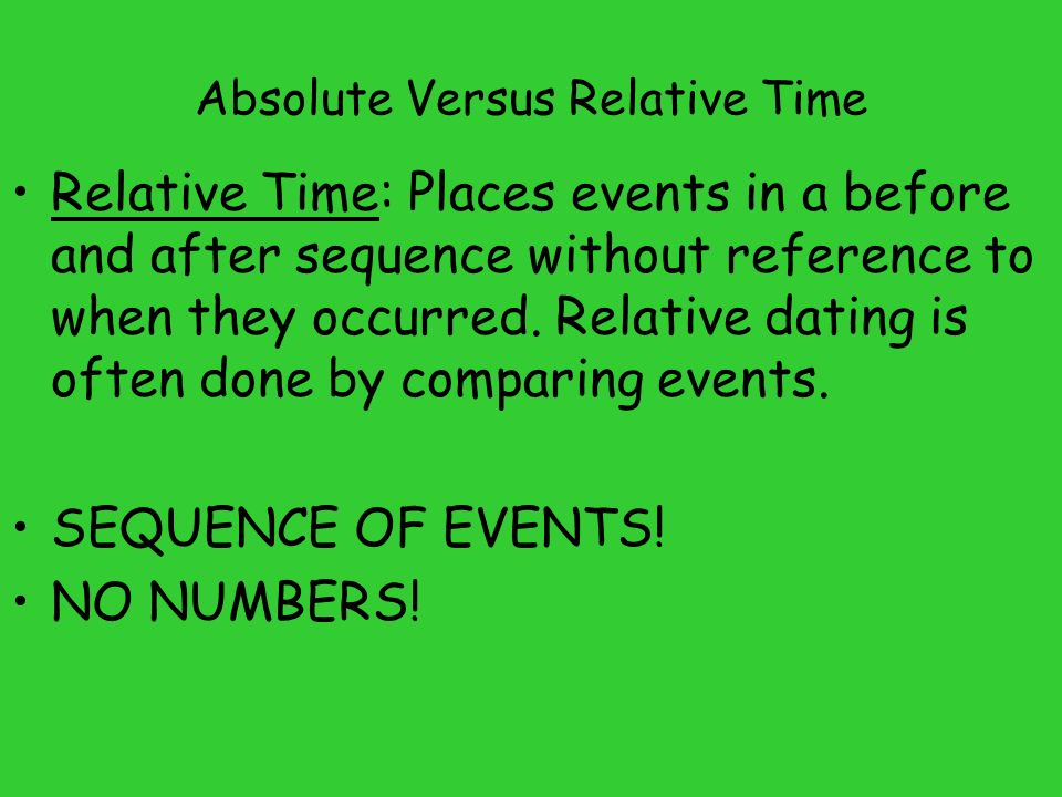 Relative dating practice with answers