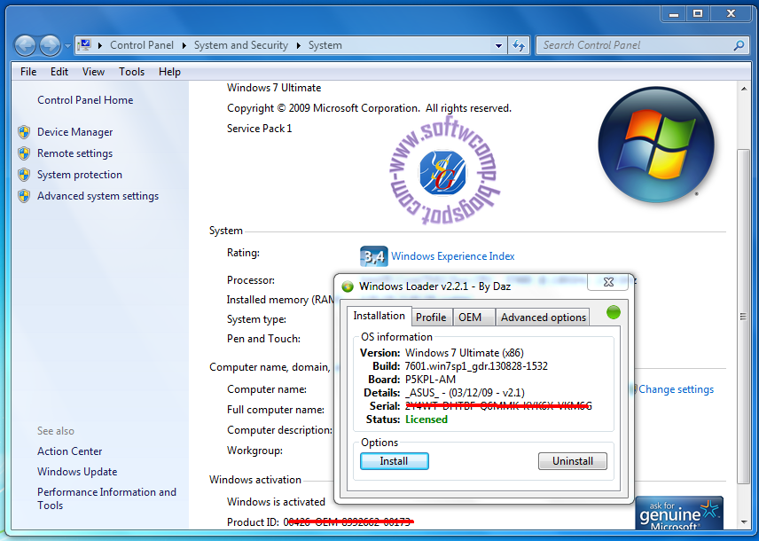 Windows 7 Activator Loader Cracked Free Download