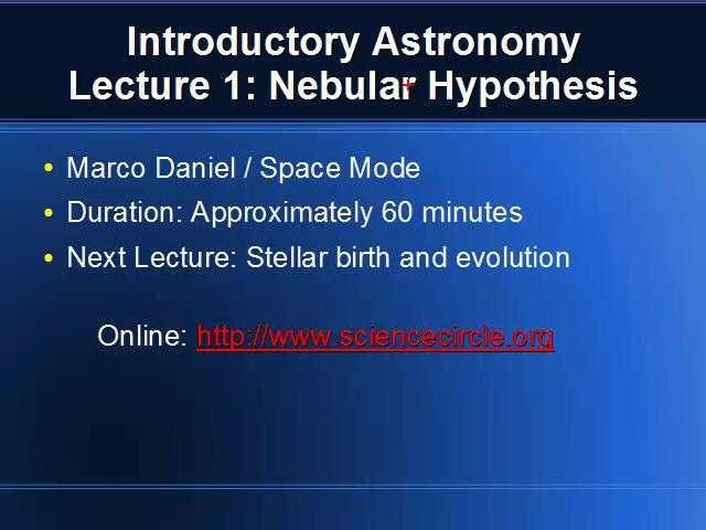 Write my who proposed the nebular hypothesis