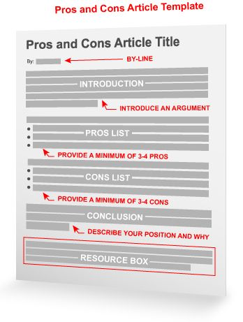 Pros and cons thesis statement by Phyllis Lloyd - issuu