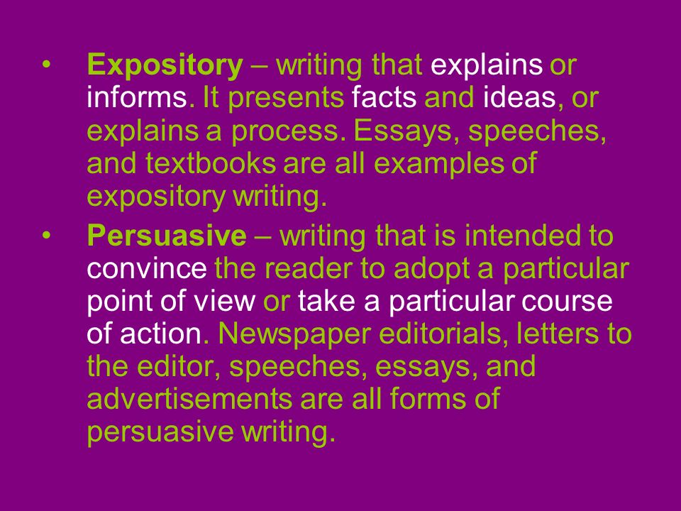Writing Expository Essays - Curriki