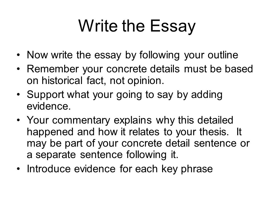 Write my outline on essay