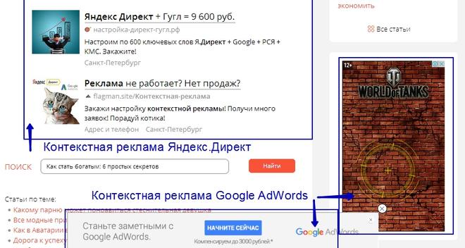 Как добавить контекстную рекламу на сайт