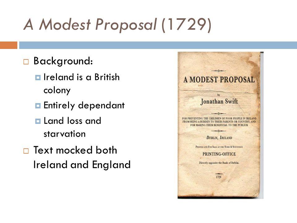 A modest proposal essay